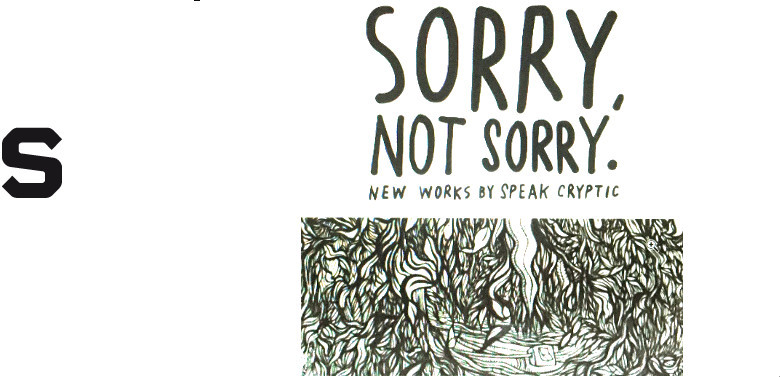 sorry, not sorry by speak cryptic